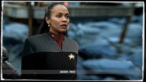 Zoe Saldana Star Trek Beyond Deep Space 9 Uniform