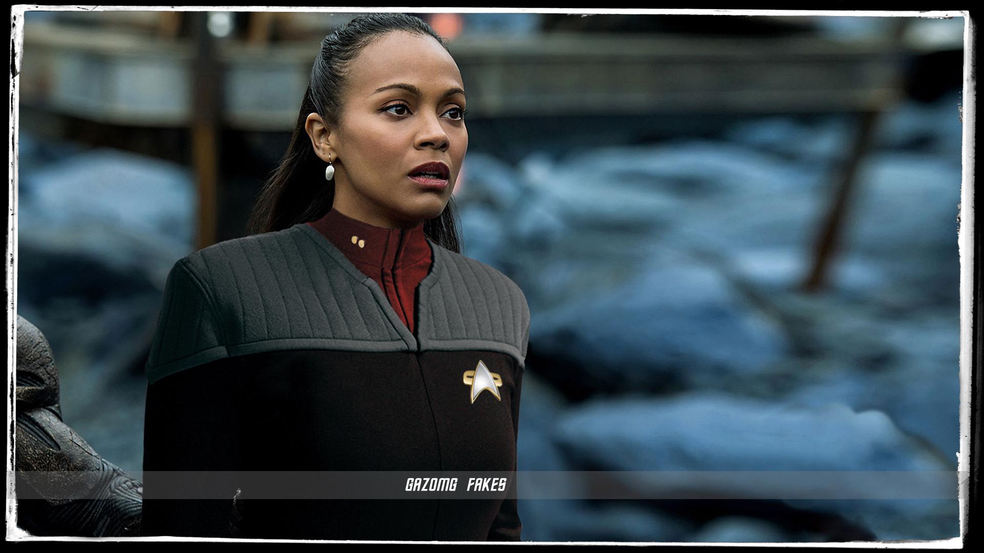 Zoe Saldana Star Trek Beyond Deep Space 9 Uniform By Gazomg