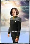 Belanna Torres in Star Trek Deep Space 9 Uniform by gazomg
