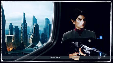 Saavik Deep Space Nine Star Trek Uniform by gazomg