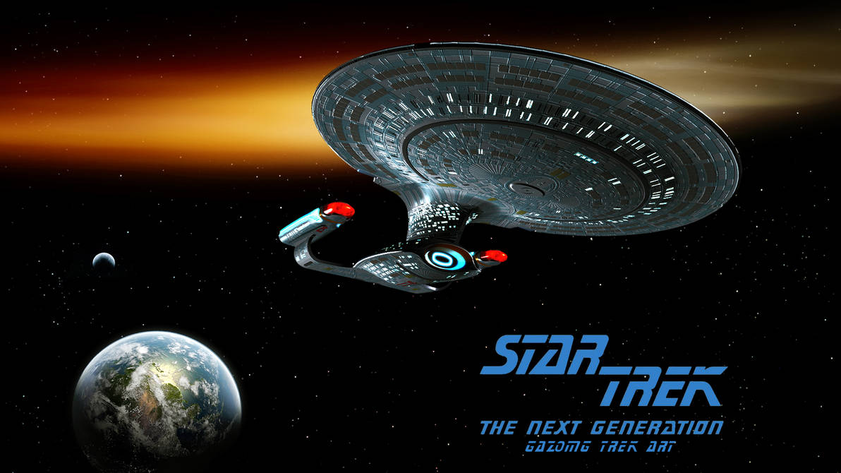 Star Trek Wallpaper Series 3 The Next Generation By Gazomg On