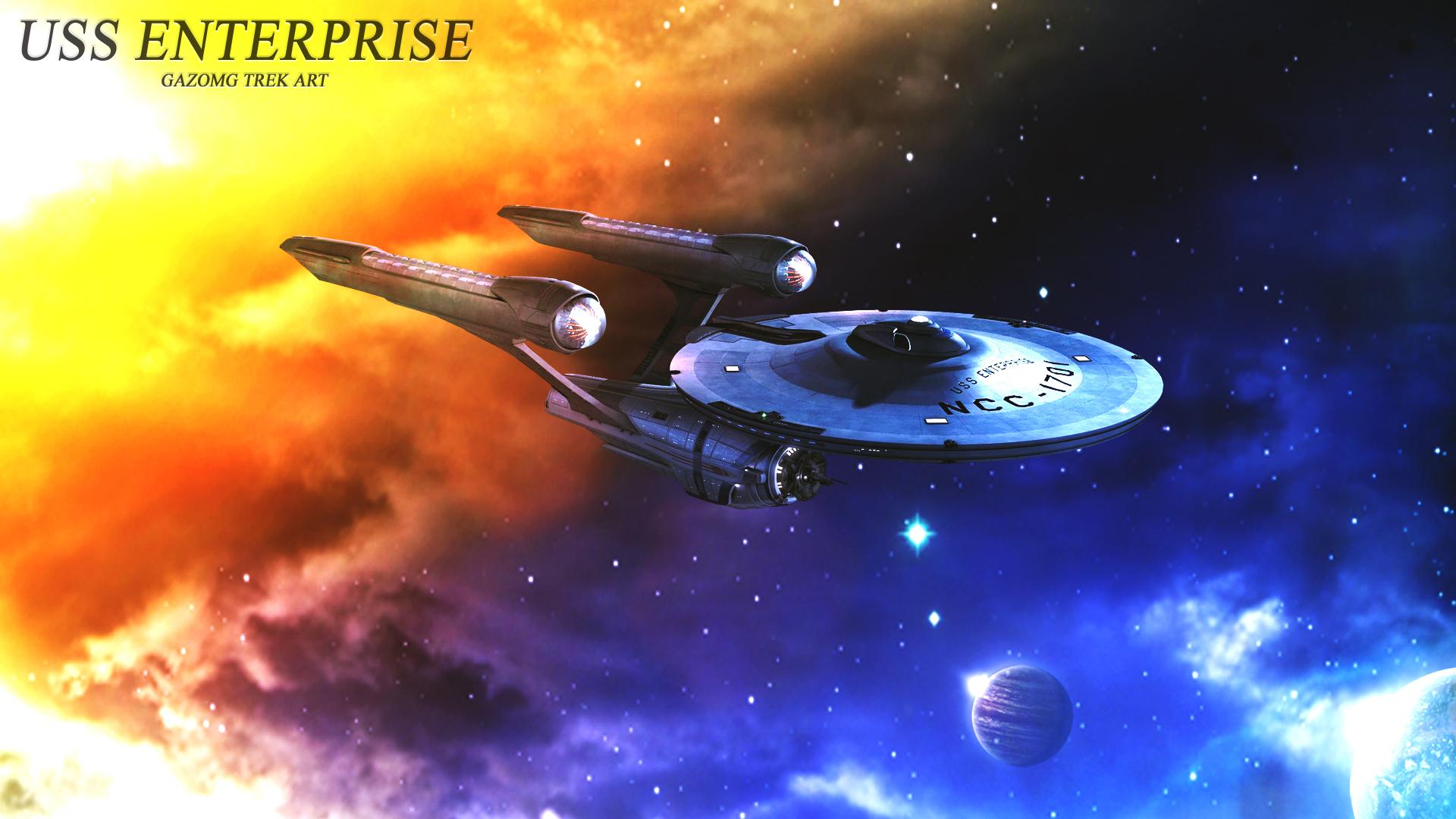 Uss Enterprise Alternate Star Trek Wallpaper By Gazomg On