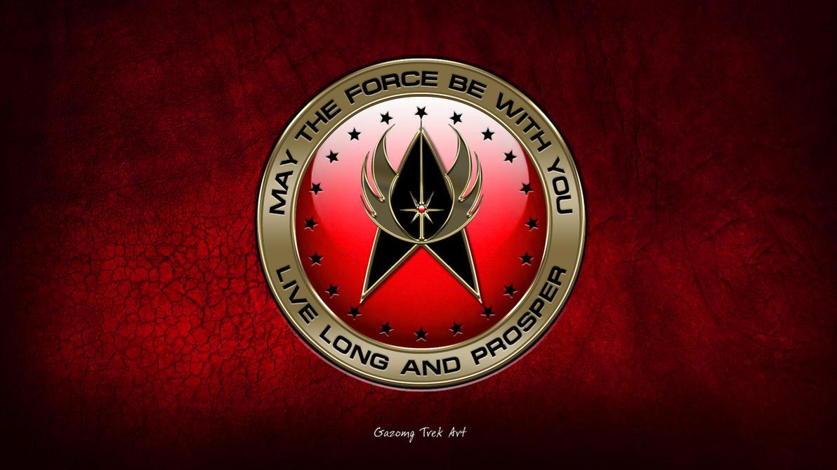 Star Trek Star Wars Crossover Logo by gazomg