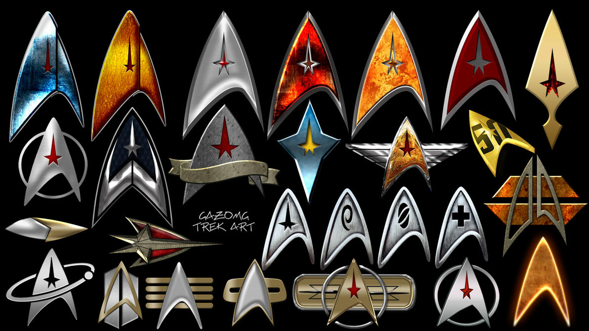 Star Trek Deltas and Logos by gazomg