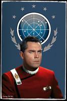 Captain Pike Star Trek Wrath of Khan by gazomg