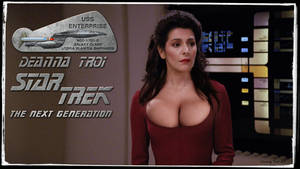 Busty Deanna Troi Star Trek the Next Generation by gazomg