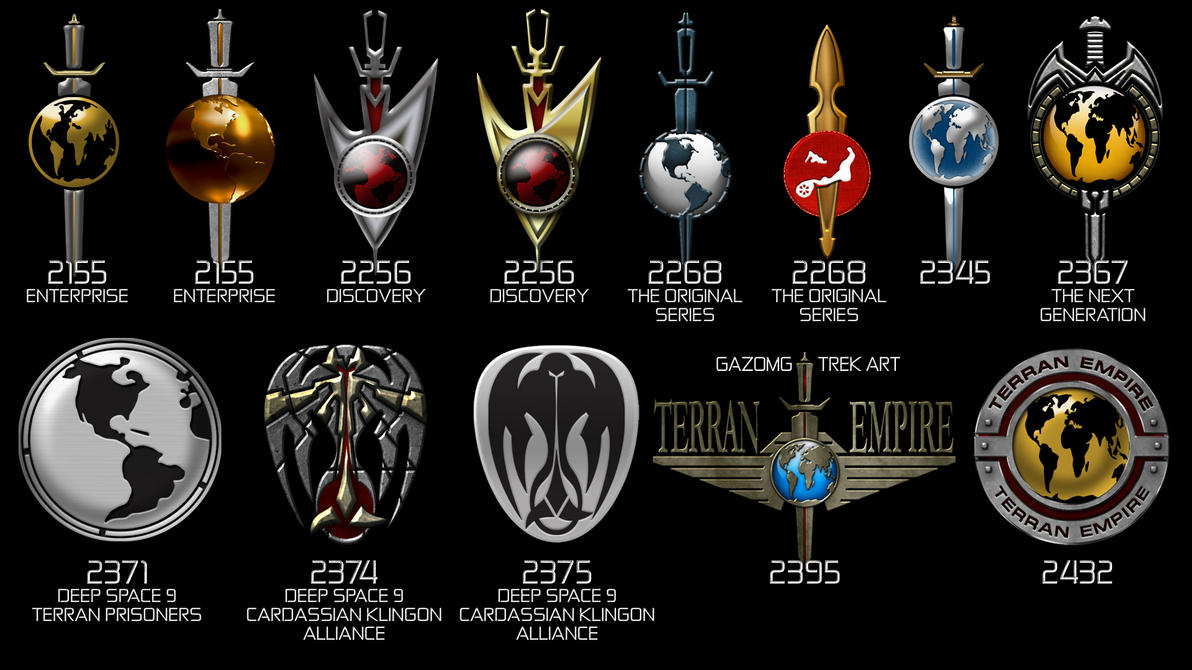 Star Trek Terran Empire Logos Mirror by gazomg