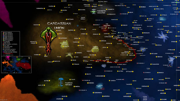 Star Trek Map Cardassian Union Sector UPDATED
