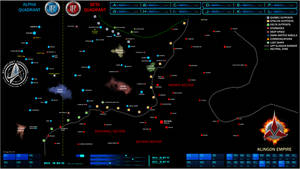 Federation Klingon Border Map Star Trek
