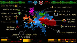 Star Trek Galactic Map and Logos