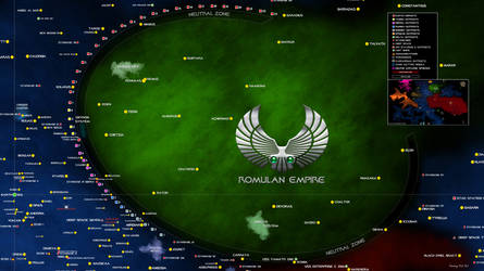 Star Trek Map Romulan Empire Sector