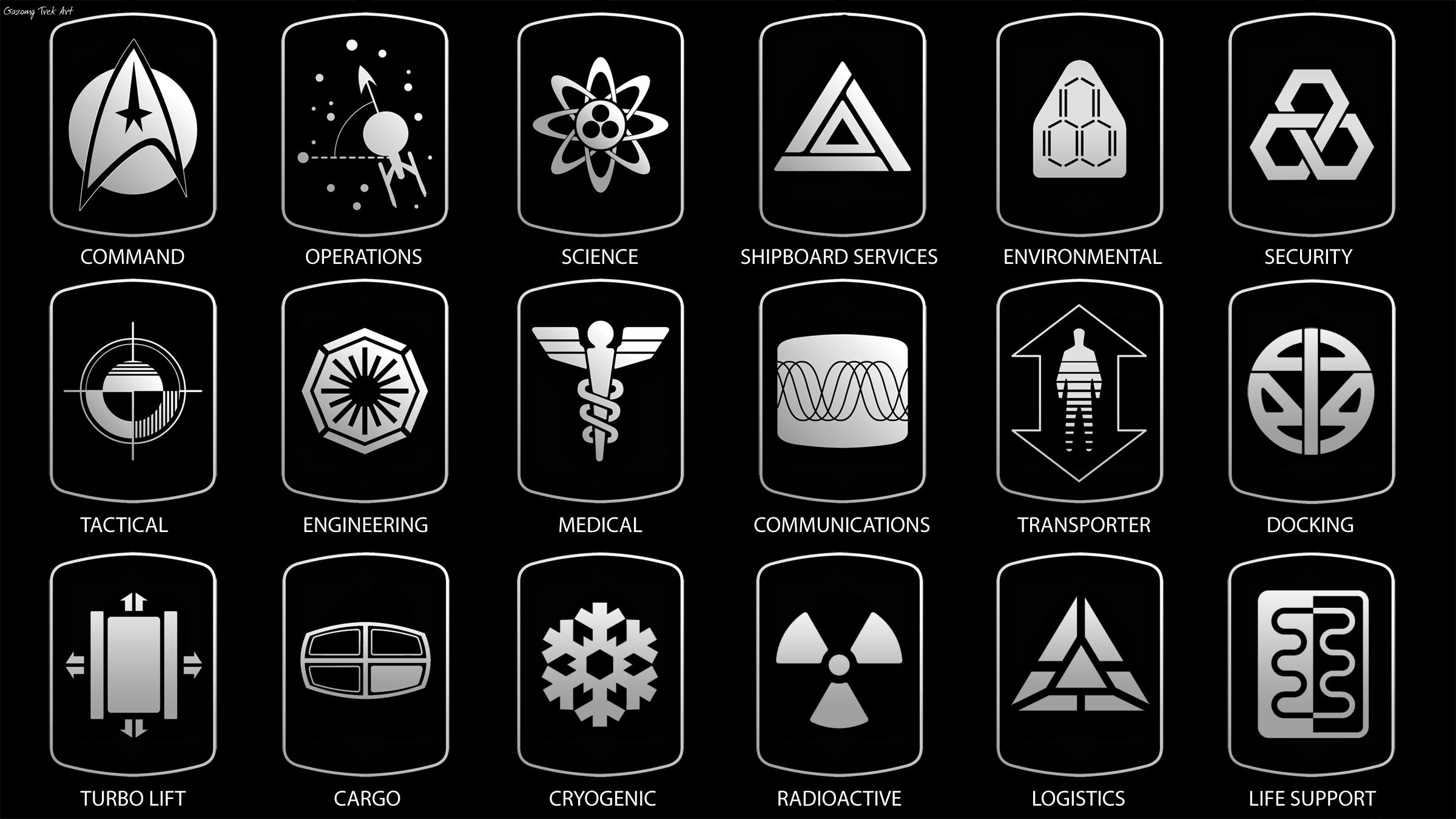 Star Trek Signage Department Logos and Insignia