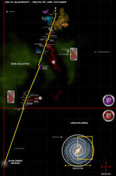Star Trek Voyager's Route thru the Delta Quadrant