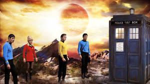Star Trek Crew Doctor Who Tardis Crossover