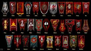 Banners of the Klingon Houses Star Trek UPDATED