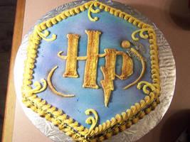 Harry Potter Logo cake by veedeb