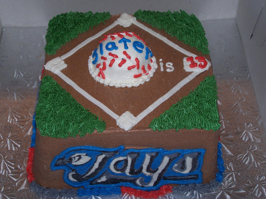 BlueJays baseball diamond cake by veedeb on DeviantArt
