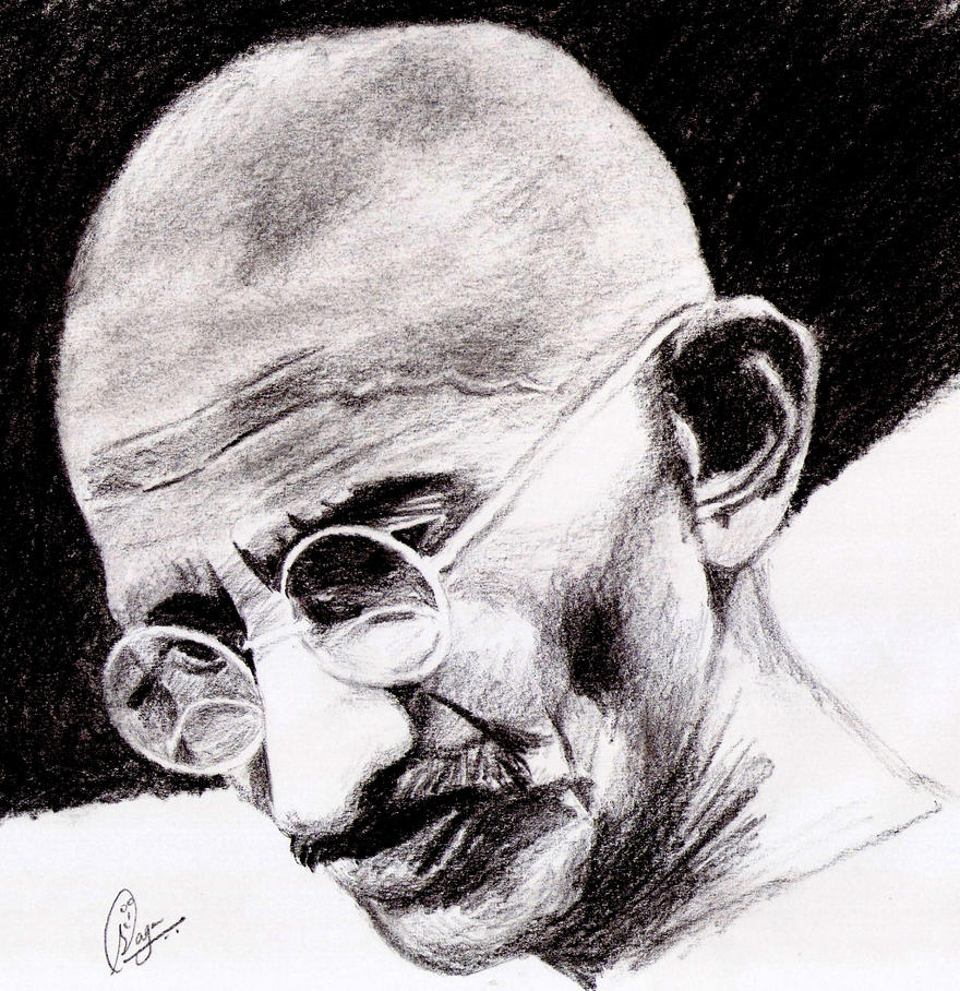 mahatma gandhi by sagarpuro