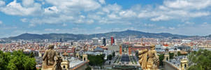 Panorama of Barcelona by Aishlling