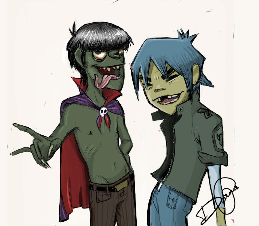 Y Gorillaz 2D and Murdoc by TheTw...