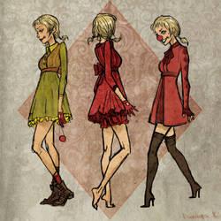 Harley Quinn dress concepts