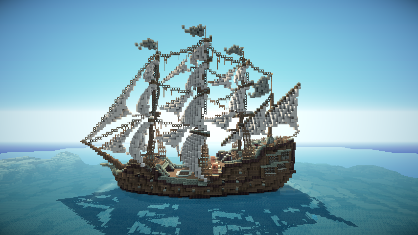 Minecraft Ship By Sillouete On DeviantArt