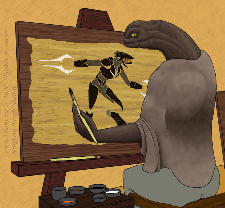 The Painter - Shading WIP by Slaskia