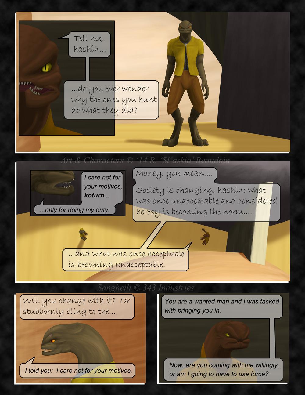 Unfinished comic pg 3 by Slaskia