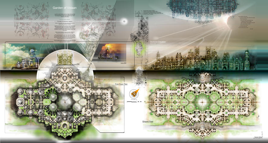Islamic architecture by icarusorion on deviantart for Modern islamic building design