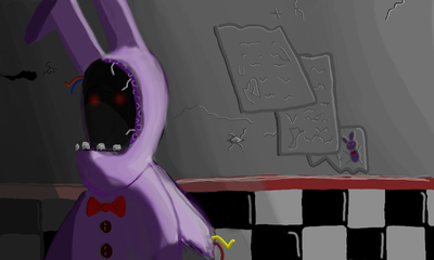Withered Bonnie by DarkFlame11