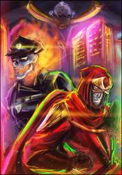 Inferno Cop x Ninja Slayer Crossover by Chooone
