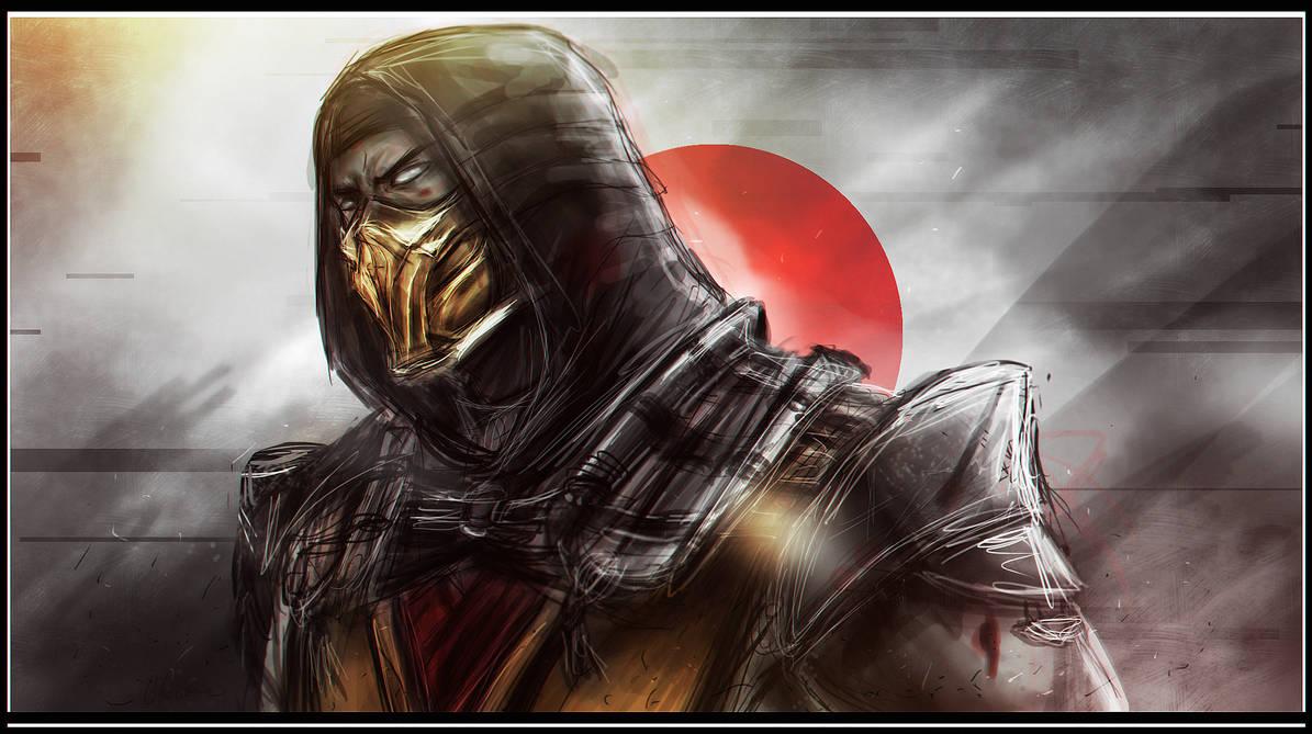 Mortal Kombat 11 Scorpion Drawing Drawing Art Ideas