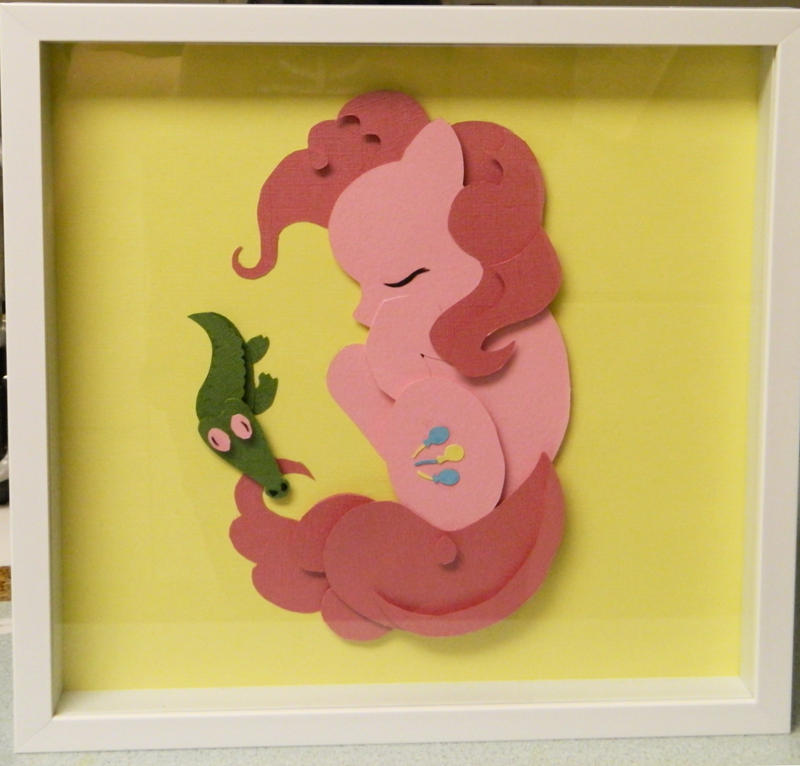 [SOLD]  Sleepy Pinkie Pie Shadowbox by The-Paper-Pony