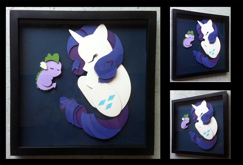 Shadowbox: Sleepy Rarity (rebuild) by The-Paper-Pony