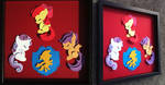 Commission: Sleepy CMC Shadowbox by The-Paper-Pony