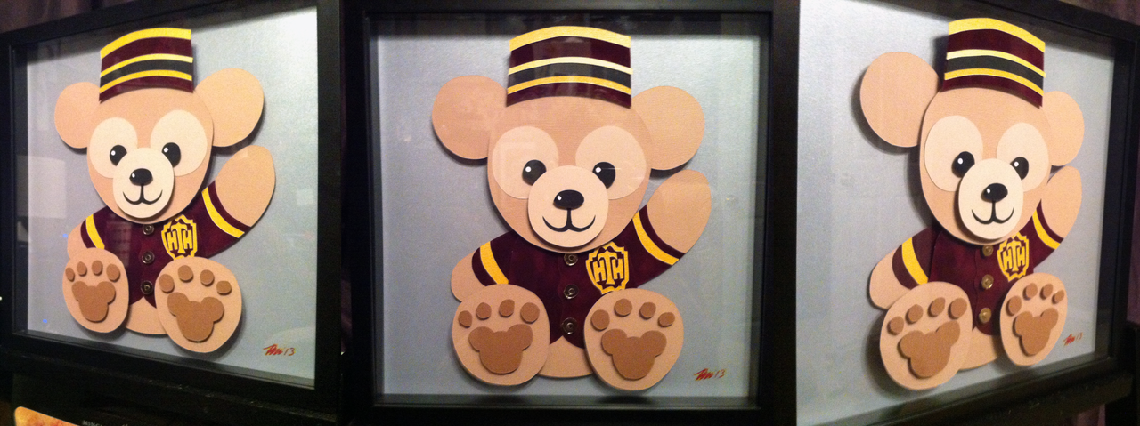Commission Duffy The Disney Bear Shadowbox By Paper Pony