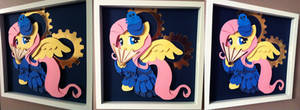 Commission: Victorian Fluttershy Shadowbox