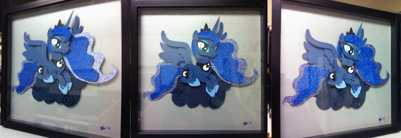 Commission:  Luna Shadowbox TAKE2 by The-Paper-Pony