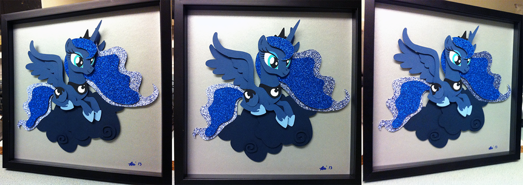 Commission:  Luna Shadowbox Take4 by The-Paper-Pony