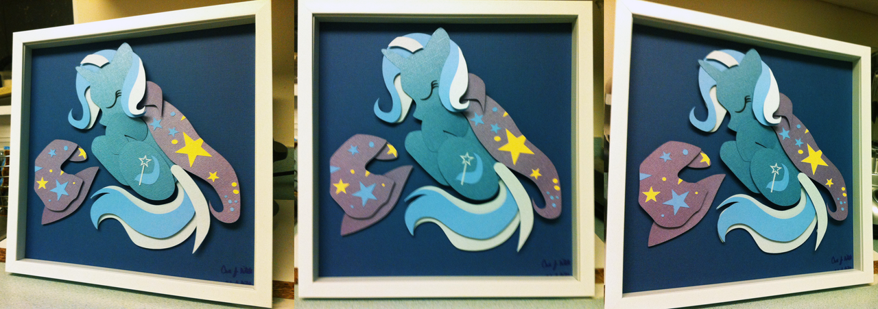 Commission: The Great and Sleepy Trixie Shadowbox by The-Paper-Pony