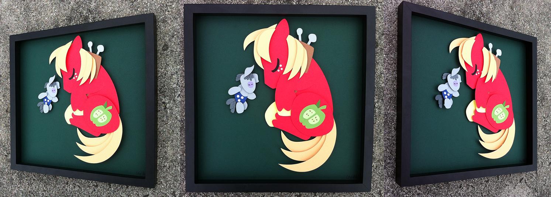 Shadowbox:  Sleepy Big Macintosh by The-Paper-Pony