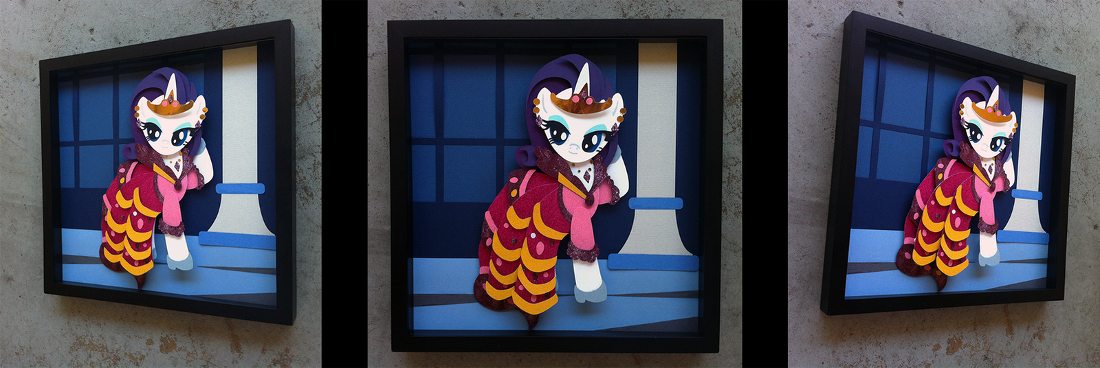 Shadowbox:  Gala Dress Rarity by The-Paper-Pony