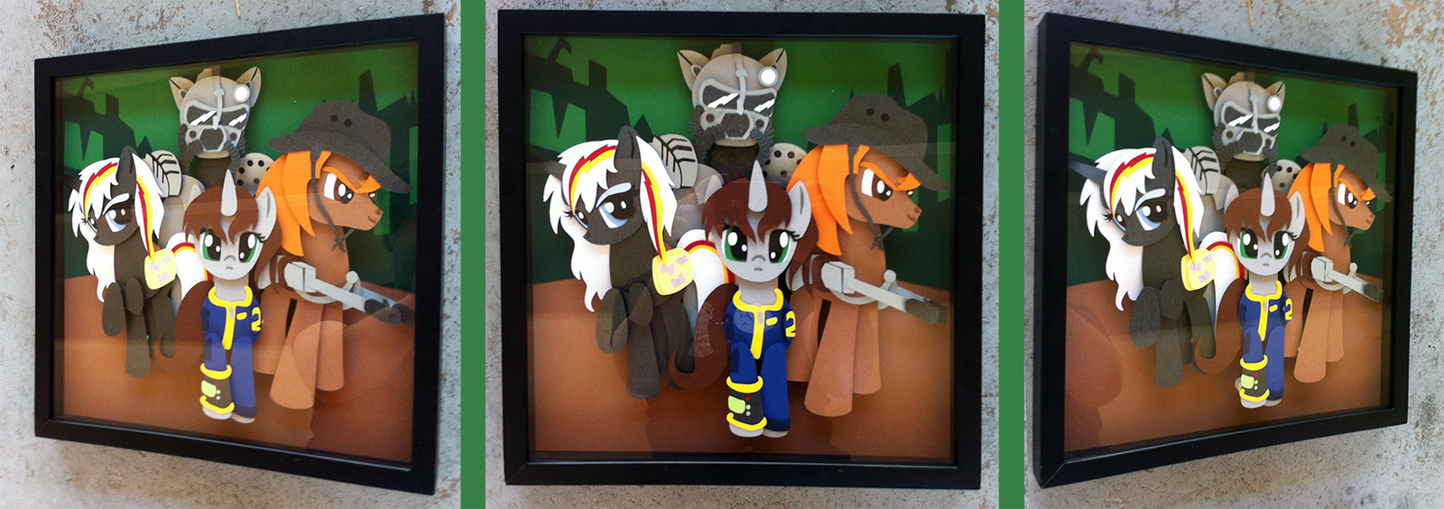 Commission:  Fallout Equestria Shadowbox by The-Paper-Pony