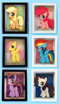 Shadowboxes: Filly Mane 6 (8x10)
