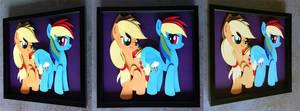 Commission:  AppleDash Shadowbox