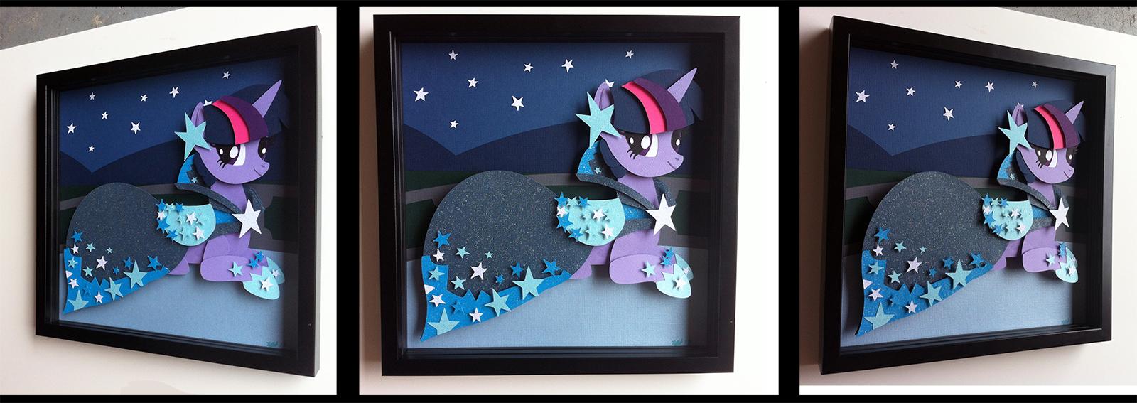 Shadowbox:  Gala Dress Twilight Sparkle by The-Paper-Pony