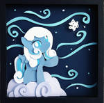 Commission:  Snowdrop Shadowbox