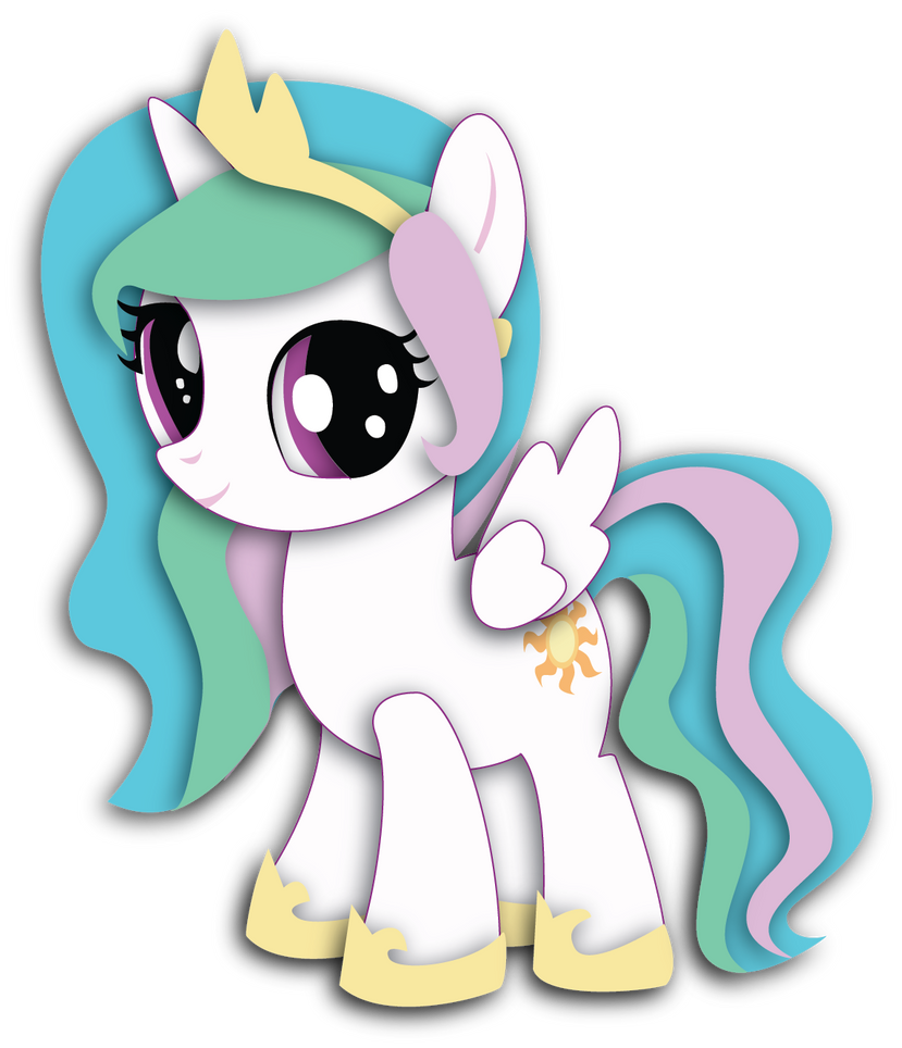 Filly Celestia Shadowbox Mock-up (8x10) by The-Paper-Pony ...