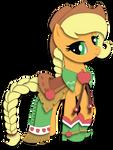 Shadowbox Mock-up: Gala Dress Applejack