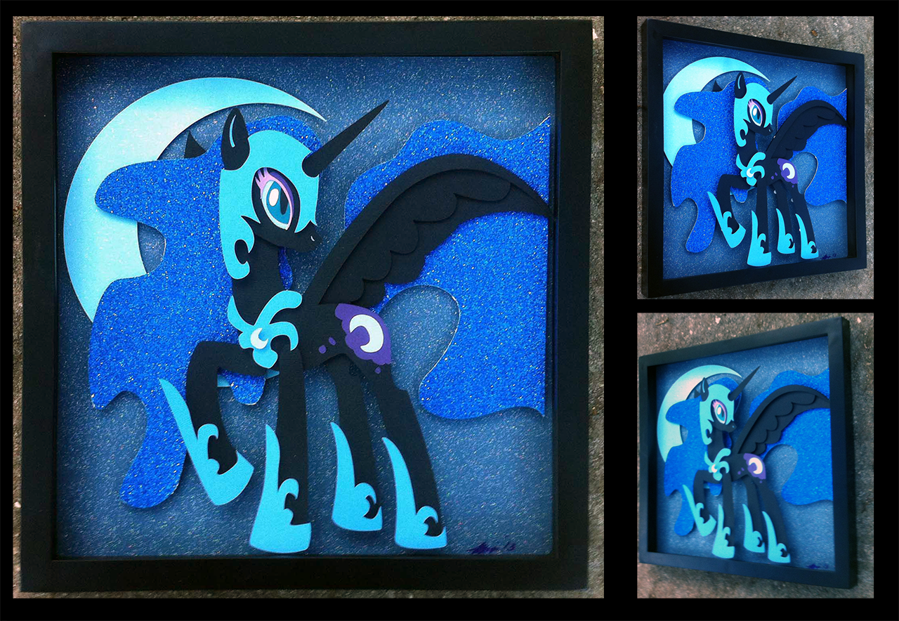 Shadowbox:  Nightmare Moon by The-Paper-Pony